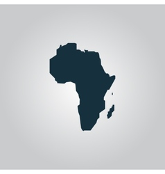Africa map - icon isolated vector