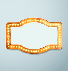 Retro bulb circus cinema light sign template vector