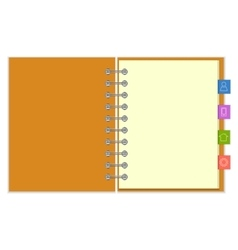 Blank notebook with colorful information bookmarks vector