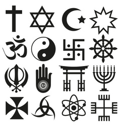 World religions symbols set of icons eps10 vector
