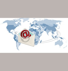 world polmail vector image