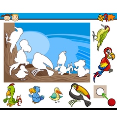 Kindergarten educational task vector