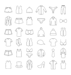 Icons clothes vector