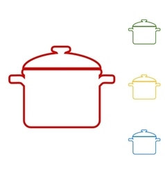 Cooking pan sign vector
