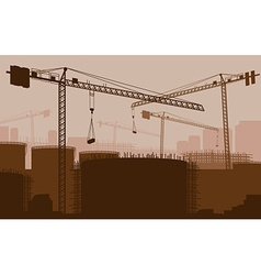 Construction site backdrop vector