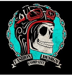 T-shirt graphics motorcycle company vector