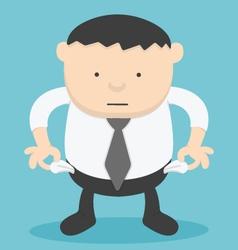 Businessman no money overweight businessman vector