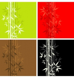 bamboo pattern seamless vector image vector image