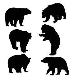 Bear silhouette animal vector