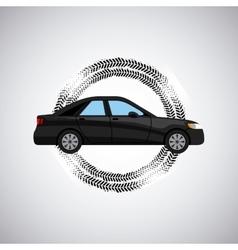 black car icon vector image vector image