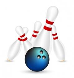 bowling illustration vector image