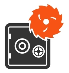 Break banking safe flat icon vector