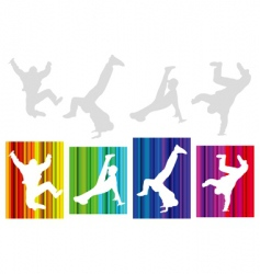 break-dancers vector image