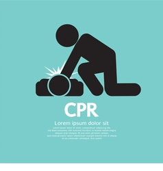 CPR Or Cardiopulmonary Resuscitation vector image vector image