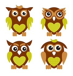 Cute Owls 2 vector image