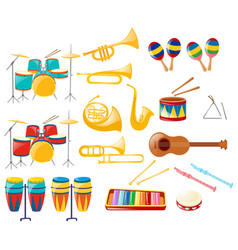 different kinds of musical instruments vector image