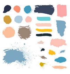 Grunge watercolor ink texture set vector
