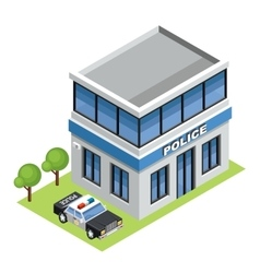 Isometric police vector image