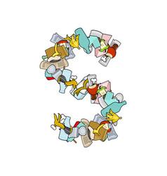 Letter s rubbish trash font garbage alphabet vector