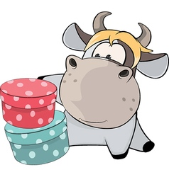 little cow Cartoon vector image vector image