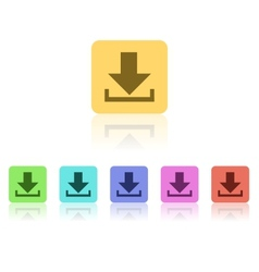Modern Flat Icon Set vector image vector image