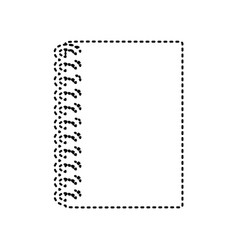 notebook simple sign black dashed icon on vector image