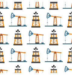 oil industry production station extracting vector image vector image