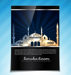 Ramdan kareem template design vector