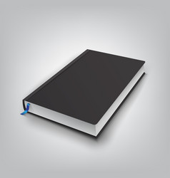 Realistic book with black cover mock up of books vector