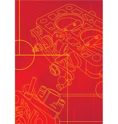 red mechanikal vector image vector image