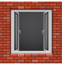 redbrick window vector image