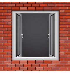 redbrick window vector image vector image
