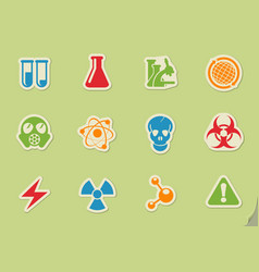Science simply symbols vector