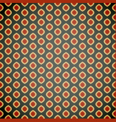 seamless geometric pattern in retro colors vector image vector image