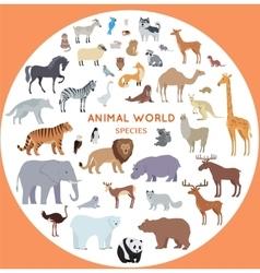 Set of World Animal Species vector image vector image