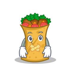 Silent kebab wrap character cartoon vector