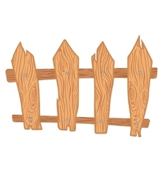 Wooden cartoon fence vector image vector image