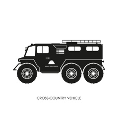 Silhouette of the cross-country vehicle vector