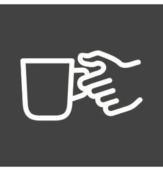 Holding coffee cup vector