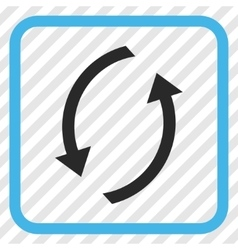 Refresh icon in a frame vector