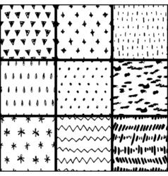 Handdrawn pattern set vector image