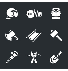 Set of rescue tools vector