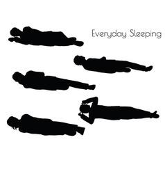 Man in everyday sleeping pose vector