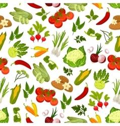 Farm fresh vegetables seamless pattern vector image