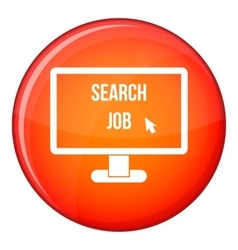 Search Job icon flat style vector image