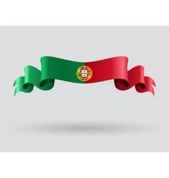 Portuguese wavy flag vector image