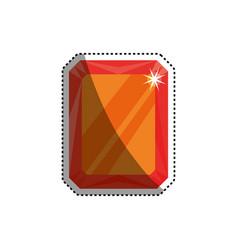 gemstone ruby jewel vector image