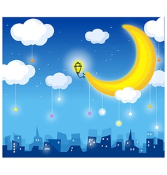 Skyline moon vector