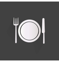 Plate web icon vector