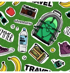 Pattern with words and stuff for your summer vector image